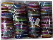 Резинка для волос «пружинка» (1018) цветная металлик цена за 100 шт