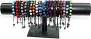"""Браслеты """"шамбала"""" разноцветные 7 шариков (12 шт/уп)"""