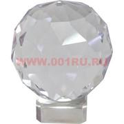 Шар стеклянный граненый 8 см (без подставки)