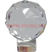 Шар стеклянный граненый 6 см (без подставки)