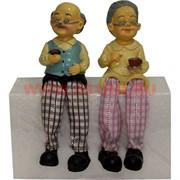 Фигурка с ножками (KL-373) Дед и Баба с чаем цена за пару (60 шт/кор)