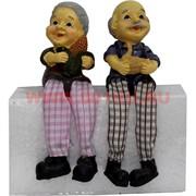 Фигурка с ножками (KL-374) Дед и Баба с уточкой цена за пару (60 шт/кор)