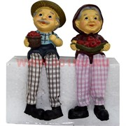 Фигурка с ножками (KL-372) Дед и Баба с ягодами цена за пару (60 шт/кор)