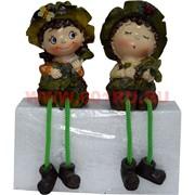 Фигурка с ножками (KL-314) мальчик и девочка с муз.инструментами цена за пару (48 шт/кор)