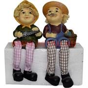 Фигурка с ножками (KL-371) Дед и Баба с инструментами цена за пару (48 шт/кор)