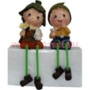 Фигурка с ножками (KL-315) мальчик и девочка с кроликом цена за пару (48 шт/кор)