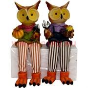 Фигурки с ножками (KL-1242) совы огородники цена за пару (24 шт/кор)