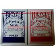 """Карты для покера """"Bicycle Seconds"""", цена за две упаковки"""