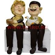 Фигурки с ножками (KL-370) Дед и Баба с гусем цена за пару (24 шт/кор)