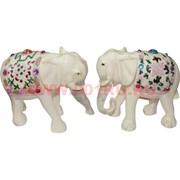 Нецке, Белая кость, 2 слона с опущенными хоботами (цена за пару)