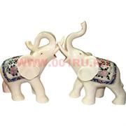 Нецке, Белая кость, 2 слона с поднятыми хоботами, цена за пару