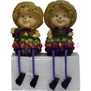 Фигурки с ножками (KL-1245) мальчик и девочка Виноград цена за пару (24 шт/кор)