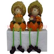 Фигурки с ножками (KL-315A) мальчик и девочка Мандарин цена за пару (24 шт/кор)