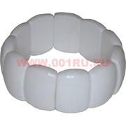 Браслет «белый агат» 25х18 мм размер сегмента