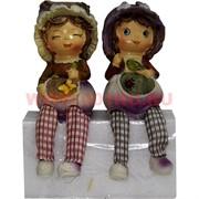 Фигурки с ножками (KL-1246) мальчик и девочка Лук цена за пару (24 шт/кор)