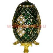 Яйцо шкатулка (3428) 10 см высота со стразами, цвета в ассортименте