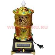 Тибетский барабан с мантрами большой (записано 5-6 мантр) 32 см высота (220V)