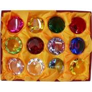 Бриллиант 3,7 см 12 цветов (XH6-11) стеклянный 12 шт/уп