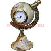 """Часы из оникса """"Глобус"""" 9см (1,5 дюйма)"""