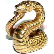 Змея символ 2013 года из бронзы 2,3 см