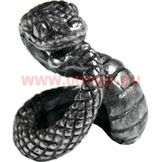 """Змея символ 2013 года из бронзы 2,3 см """"под серебро"""""""