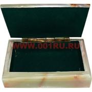Шкатулка из оникса (13 см длина) в картонной коробочке