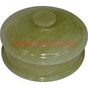 Шкатулка из оникса круглая с крышкой (10 см диаметр)