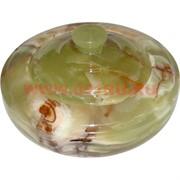 Шкатулка из оникса круглая с крышкой (15 см диаметр)