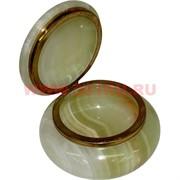 Шкатулка из оникса круглая 10 см (4 дюйма)