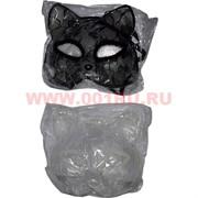 Маска Кошки черное и белое кружево