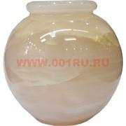 Ваза «шар» 6 дюймов круглая из розового оникса