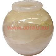 Ваза «шар» 8 дюймов круглая из розового оникса