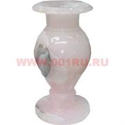 Ваза из розового оникса 30 см (6х12)