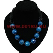Бусы из синего агата (граненный)