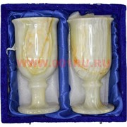 Набор из 2 бокалов 14 см в бархатной коробочке (3х6) из оникса
