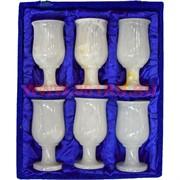Набор 6 бокалов из оникса 12 см в бархатной коробочке (2,5х5)