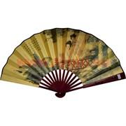 Веер 33х60 см бамбук, шелк, бумага (RA-V-93) цена за 500 шт