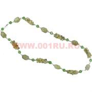 Бусы из зеленого граната 70 см оптом (россыпь+камень)