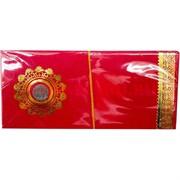Конверт денежный красный с монетой 1 рупия 10 шт