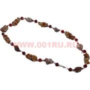 Бусы из агата и сердолика 70 см оптом (россыпь+камень)