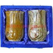 Набор из 2 стаканов 12 см (3х5) из оникса в бархатной коробочке