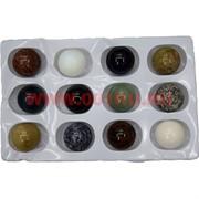 """Набор большой """"Шарики 40 мм"""" из натуральный камней, цена за 12 шт"""