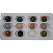 """Набор большой """"Шарики 25 мм"""" из натуральный камней, цена за 12 шт"""