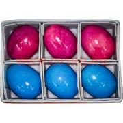 Яйца из оникса крашеные 6 см, цена за 6 шт (цветные)