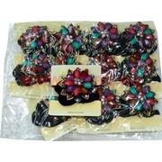 Резинка с брошкой (SK-920) цена за упаковку 12 шт
