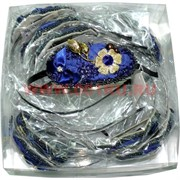 Ободок с цветком (S-149) металлический цена за упаковку 12 шт