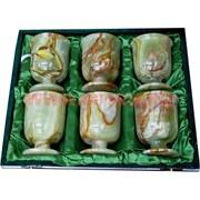 Набор из оникса 6 бокалов 12 см (3х5) в бархатной упаковке