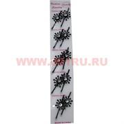 """Заколка со стразами """"Цветочек"""" (ALI-100) цена за упаковку 12 листов"""