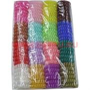 Резинка-пружинка прозрачная малая цветная 100 шт