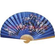 Веер 90 см синий, рисунки в ассортименте